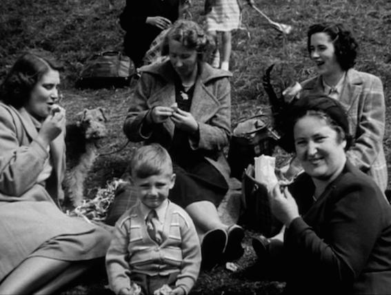 B & W family picnic